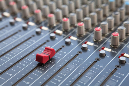 Sound mixer control panel photo