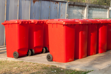 segregate: Large trash cans  garbage bins