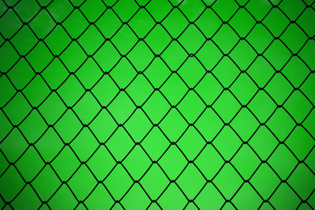 metallic net with green background photo