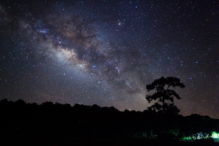 vulpecula: Milky Way at Phu Hin Rong Kla National Park,Phitsanulok Thailand Stock Photo