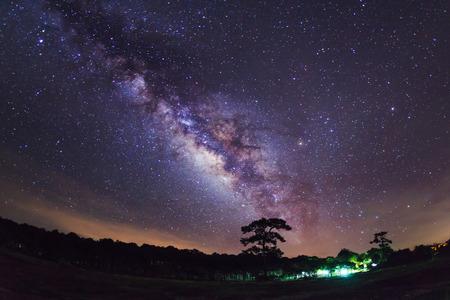 Milky Way at Phu Hin Rong Kla National Park,Phitsanulok Thailand Фото со стока - 29763254