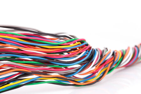 interconnect: muti-color electronic wire Stock Photo