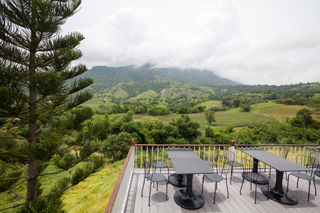 Beautiful terrace lounge with mountain view