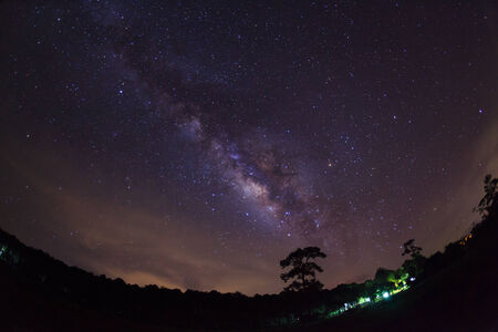 Milky Way at Phu Hin Rong Kla National Park,Phitsanulok Thailand  photo
