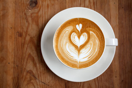 A cup of coffee latte photo