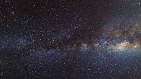 Milky Way.  Long exposure photograph photo