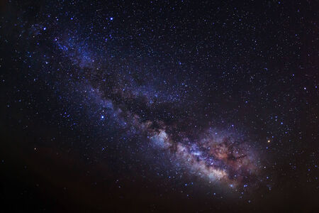 beautiful milkyway on a night sky photo