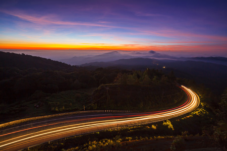 Doi Inthanon National Park in the sunrise at Chiang Mai, Thailand