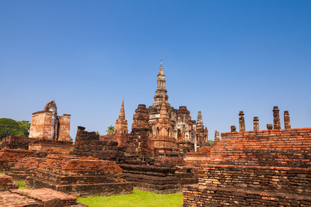 Sukhothai historical park. Buddhist temple ruins in Sukhothai historical park,Thailand photo