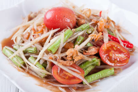 somtum: Somtum, papaya salad delicious food in thailand
