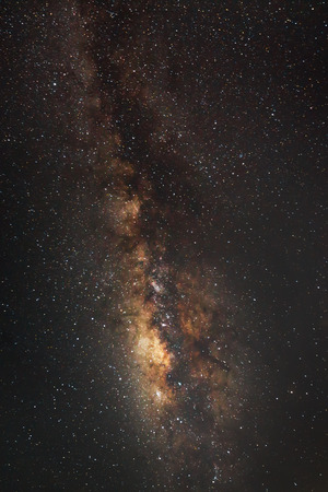 vulpecula: beautiful milkyway on a night sky Stock Photo