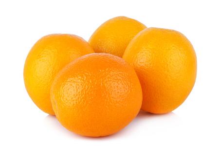sliced orange: resh orange isolated on white background Stock Photo