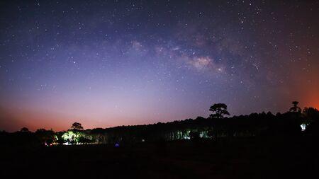 vulpecula: The Panorama of Milky Way Stock Photo
