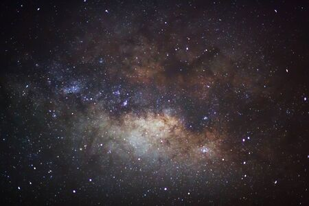 The center of the milky way galaxy, Long exposure photograph photo