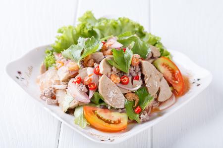 spicy vermicelli salad Foto de archivo
