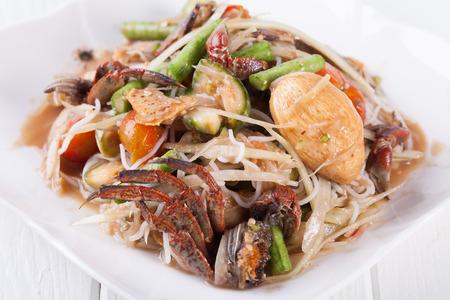 somtum: Somtum, papaya salad delicious food in thailand