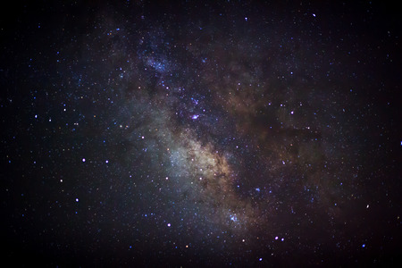 The center of the milky way galaxy, Long exposure photograph 스톡 콘텐츠