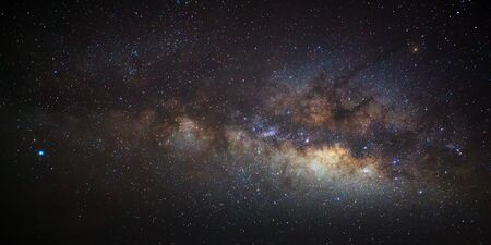 astro: The center of the milky way galaxy, Long exposure photograph Stock Photo