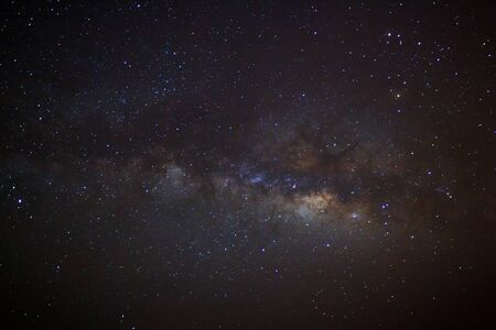 Milky Way galaxy Long exposure photograph.