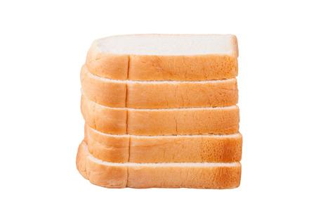 Scheibe Brot auf weißem Hintergrund