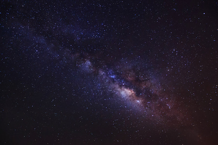 beautiful milkyway on a night sky, Long exposure photograph