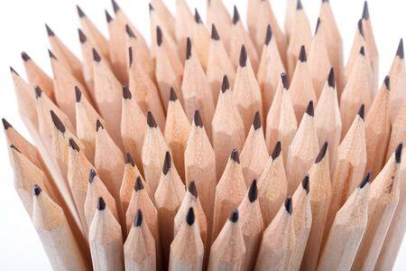 sharpen: Group of sharpen and un-sharp pencils Stock Photo