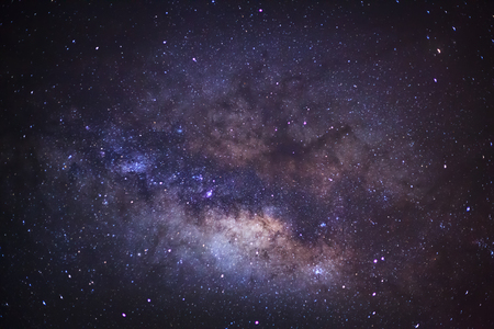 vulpecula: Close-up of Milky Way,Long exposure photograph, with grain