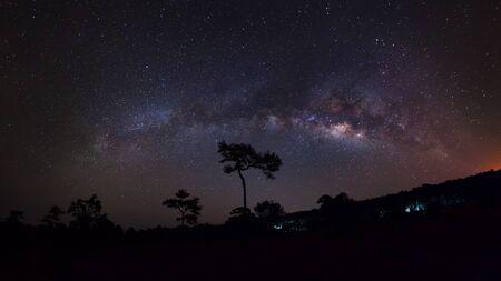 vulpecula: The Panorama Milky Way galaxy, Long exposure photograph Stock Photo