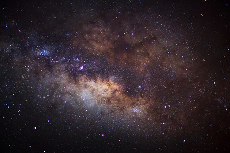 vulpecula: The center of the milky way galaxy, Long exposure photograph,with grain