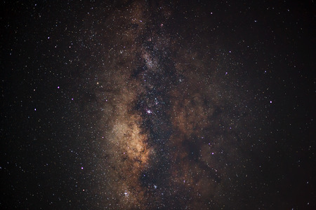 vulpecula: Milky Way galaxy, Long exposure photograph, with grain Stock Photo