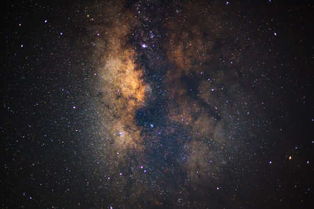 vulpecula: Close - up Milky Way. Long exposure photograph,with grain Stock Photo