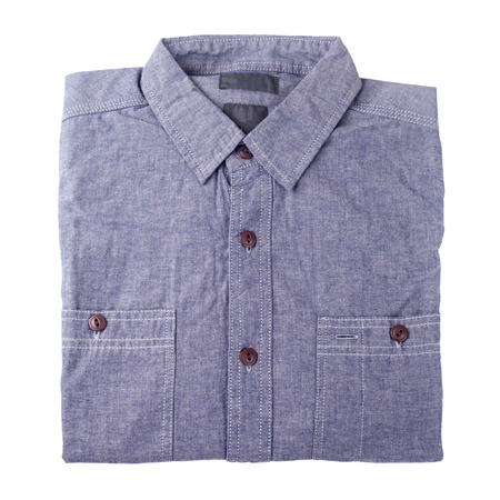 fabric cotton: denim blue jeans shirt