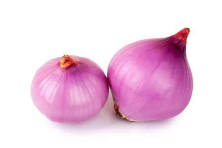 onion: red onion bulb on white