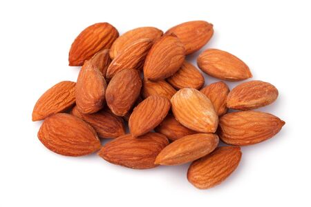 nuts: almond nuts isolated on white background