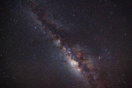 vulpecula: The Panorama Milky Way galaxy, Long exposure photograph,with grain