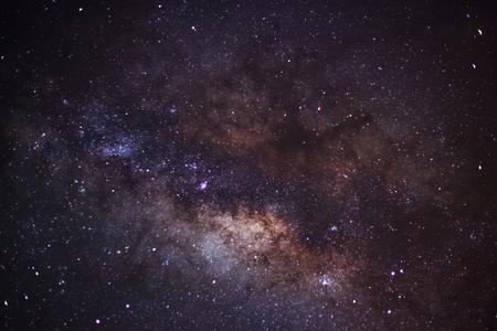 outerspace: Milky Way at Phu Hin Rong Kla National Park,Phitsanulok Thailand. Long exposure photograph.