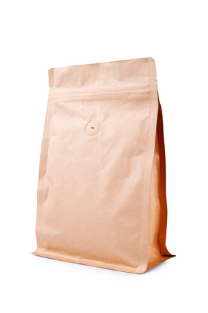 sackful: Tea or coffee pack paper Stock Photo