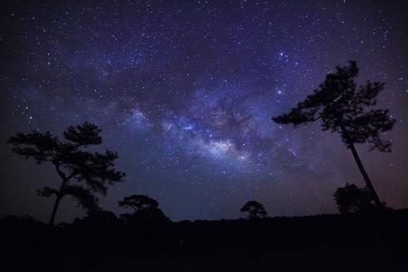 vulpecula: Milky Way at Phu Hin Rong Kla National Park,Phitsanulok Thailand,Long exposure photograph with grain
