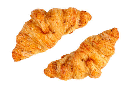 traditionally french: croissant on white background