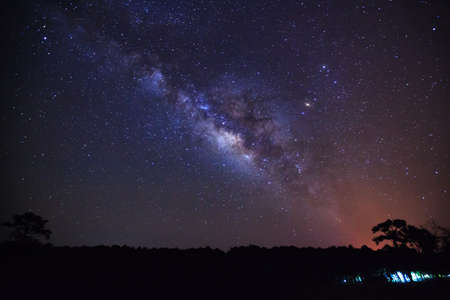 vulpecula: beautiful milkyway on a night sky, Long exposure photograph