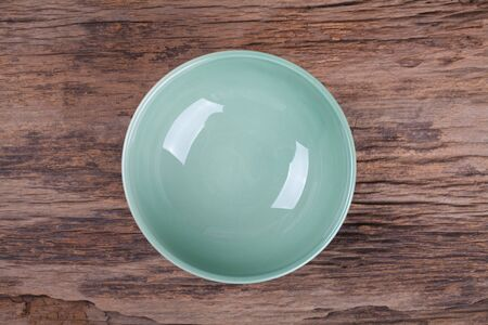 clean dishes: Empty bowl on wood Stock Photo