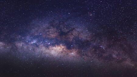 vulpecula: Close - up Milky Way galaxy, Long exposure photograph, with grain. Stock Photo
