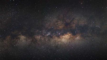 vulpecula: Milky Way galaxy, Long exposure photograph, with grain Stock Photo