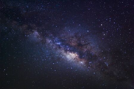 vulpecula: Milky Way Galaxy,Long exposure photograph, with grain? Stock Photo