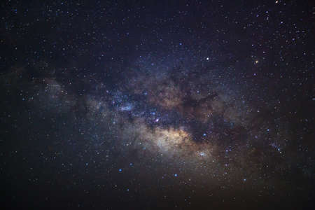 milkyway: beautiful milkyway on a night sky, Long exposure photograph, with grain