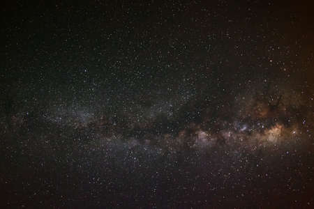 vulpecula: milky way galaxy on a night sky,long exposure photograph, with grain