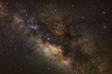 Core of Milky Way. Galactic center of the milky way, Long exposure photograph,with grain