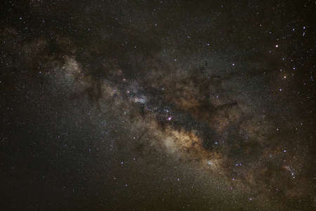 galactic center: Core of Milky Way. Galactic center of the milky way, Long exposure photograph,with grain
