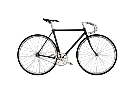fixed: City bicycle fixed gear isolated on white background