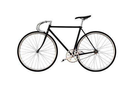 clavados: Ciudad bicicleta fija del engranaje aislado sobre fondo blanco Foto de archivo